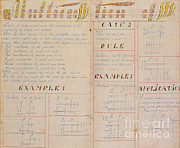 Amish Prints - 19th Century Amish Math Book Print by Photo Researchers