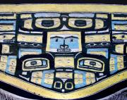 Blanket Prints - 19th Century Chilkat Blanket Print by Joe Kozlowski
