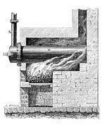 Gasses Prints - 19th Century Furnace For Gas Lighting Print by Library Of Congress