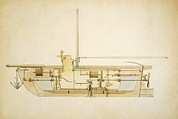 Workings Art - 19th Century Military Submarine, Artwork by Library Of Congress