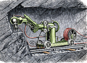 Simonin Prints - 19th-century Mining Machine Print by Sheila Terry