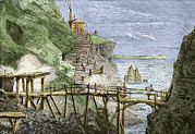 Mines And Miners Photos - 19th-century Tin Mine, Cornwall by Sheila Terry