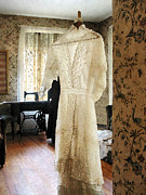 Clothing Framed Prints - 19th Century Wedding Dress Framed Print by Susan Savad