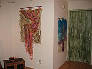 With Tapestries - Textiles Originals - 1Aurora Boreal 2 Arco Iris de Carnaval by Eugenia Padilla
