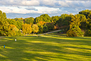 Clarksville Framed Prints - 1st Hole at Clarksville CC Framed Print by Ed Gleichman