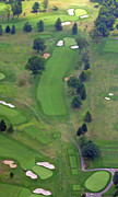 Sunnybrook Golf Club Aerials By Duncan Pearson Originals - 1st Hole Sunnybrook Golf Club 398 Stenton Avenue Plymouth Meeting PA 19462 1243 by Duncan Pearson