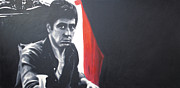 Tony Montana Framed Prints - - Scarface - Framed Print by Luis Ludzska