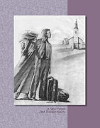 Luggage Drawings Framed Prints - 022 A New Pastor Framed Print by James Robinson