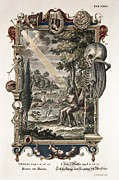 Sacred Artwork Framed Prints - 1731 Johann Scheuchzer Creation Of Man Framed Print by Paul D Stewart