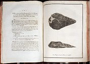 Palaeolithic Prints - 1797 First Handaxe John Frere Of Hoxne 1 Print by Paul D Stewart