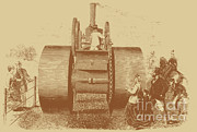 Road Roller Posters - 1866 Steam Road Roller Poster by Science Source