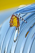 Collector Hood Ornaments Prints - 1948 Pontiac Chief Hood Ornament Print by Jill Reger