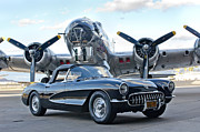 1957 Corvette Prints - 1957 Chevrolet Corvette Print by Jill Reger