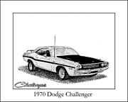 1970 Dodge Challenger Print by Jack Pumphrey