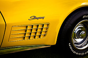 Stingrays Posters - 1971 Chevrolet Corvette Stingray Poster by David Patterson