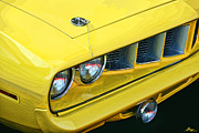 Yellow Digital Art Originals - 1971 Plymouth Cuda 440 by Gordon Dean II