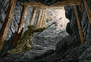 Working Conditions Art - 19th-century Coal Mining by Sheila Terry