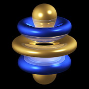 5gz4 Electron Orbital Print by Dr Mark J. Winter
