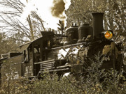 Train Prints - 2-8-2 Steam Locomotive 2 Print by Scott Hovind