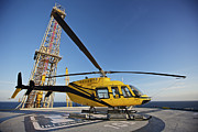 Drilling Rig Framed Prints - A Bell 407 Utility Helicopter Framed Print by Terry Moore