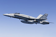 Armed Forces Prints - A Cf-188a Hornet Of The Royal Canadian Print by Gert Kromhout