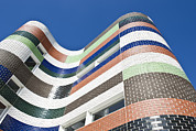 Multi-coloured Art - A City Building In Melbourne. The by Dave and Les Jacobs