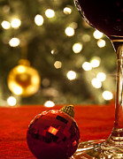 Christmas Ornament Posters - A Drink by the Tree Poster by Andrew Soundarajan