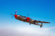 Lightning Photography Photos - A Lockheed P-38 Lightning Fighter by Scott Germain