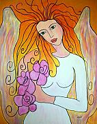 Angel Art Paintings - A loving heart... by Renate Dartois