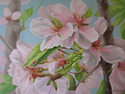 Tree Blossoms Paintings - A Moment in Time by Jean Marie Boyko