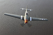 North American Aviation Photos - A North American P-51 Mustang In Flight by Daniel Karlsson