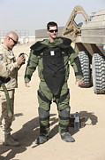 Body Armor Art - A U.s. Marine Gets Suited by Terry Moore