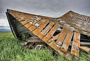 Shed Digital Art Metal Prints - Abandoned Farm Metal Print by Mark Duffy
