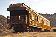 Caboose Framed Prints - Abandoned Train Car Framed Print by Eddy Joaquim