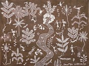 Indian Tribal Art Paintings - Abm 02 by Anitha Balu Mashe