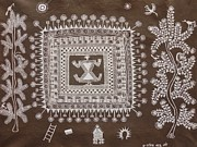 Indian Tribal Art Paintings - Abm 04 by Anitha Balu Mashe