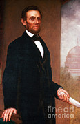 Slavery Prints - Abraham Lincoln, 16th American President Print by Photo Researchers