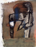 Earth Pastels - Abstract Figure in Landscape by JC Armbruster