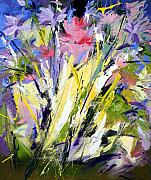 Abstract Paintings - Abstract Flowers by Mario Zampedroni