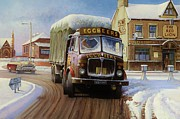 1960s Paintings - AEC Tinfront by Mike  Jeffries
