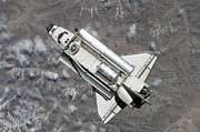 Orbiter Posters - Aerial View Of Space Shuttle Discovery Poster by Stocktrek Images