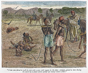 Chained Prints - Africa: Slave Trade, 1889 Print by Granger