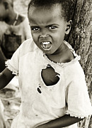 Poor People Prints - African child Print by Anna Omelchenko