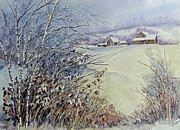 Snow Scene Paintings - After the Snowfall by Louise Peardon