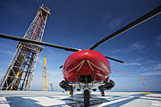 Offshore Drilling Framed Prints - Agustawestland Aw109e Utility Framed Print by Terry Moore