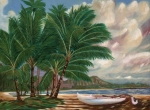 Coconut Trees Paintings - ala moana beach II by Larry Geyrozaga