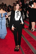 Metropolitan Museum Of Art Photos - Alexa Chung Wearing A 3.1 Phillip Lim by Everett