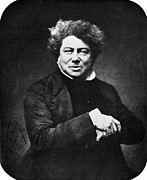 1857 Framed Prints - Alexandre Dumas (1802-1870) Framed Print by Granger