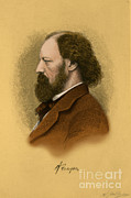 Alfred Posters - Alfred, Lord Tennyson, English Poet Poster by Science Source