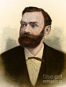 Alfred Posters - Alfred Nobel, Swedish Chemist Poster by Science Source